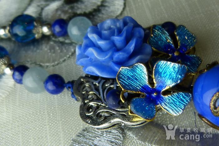 520 天然巴西海蓝宝石项链图10