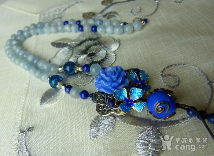 520 天然巴西海蓝宝石项链图11
