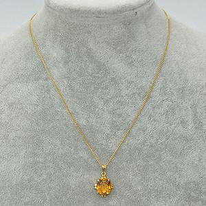 3.9克镶水晶吊坠项链