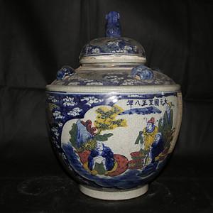 乡货旧藏  收来的一大坛子老普洱茶。