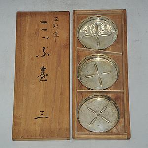日本锡器一套 3个
