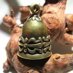 开门到代 晚清 精铜 打造 乾坤带 纹理 降魔铃 声音清脆包浆老道