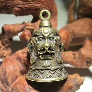 民国时期 铜质 海纹口 护身 三才瑞兽 驱魔铃 声音清脆