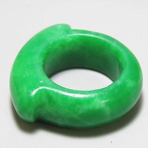 老坑 翡翠 满绿 戒指 特别漂亮