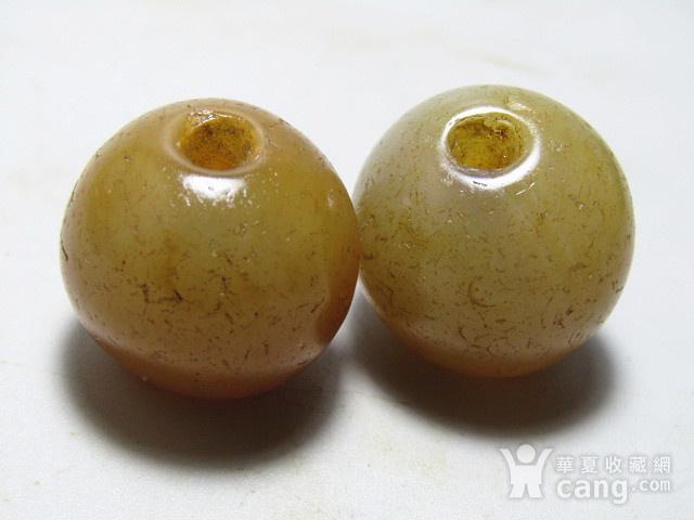 唐 玛瑙珠一对 包浆熟厚图3