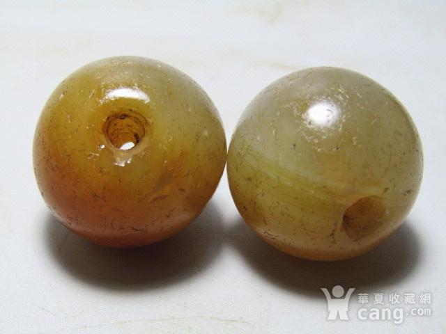 唐 玛瑙珠一对 包浆熟厚图4