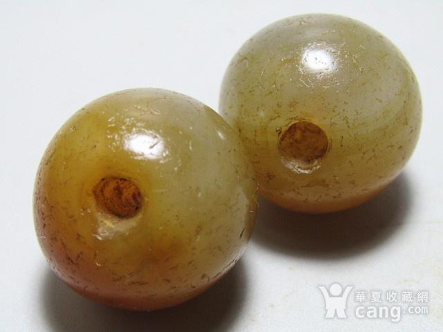 唐 玛瑙珠一对 包浆熟厚图2