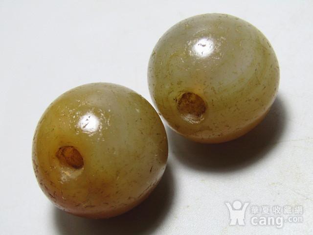 唐 玛瑙珠一对 包浆熟厚图9