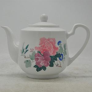 醴陵釉下彩红官窑瓷茶壶