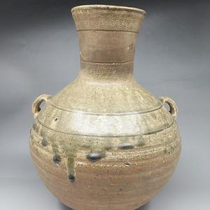 汉代越窑青瓷双耳壶