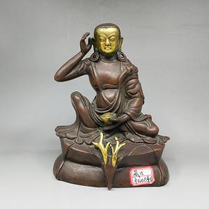 清末米拉日巴尊者铜造像