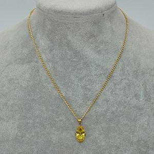 2.9克镶水晶吊坠项链
