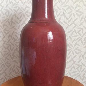 清中期300件大红瓶子