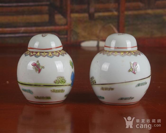 景德镇文革期间老厂瓷器 全手工彩绘婴戏图宝珠坛一对 中号 图4
