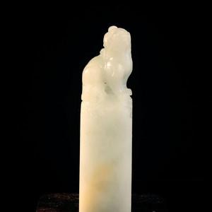 联盟 158.6克 寿山 稀缺 山顶白太极石 瑞兽 大方章