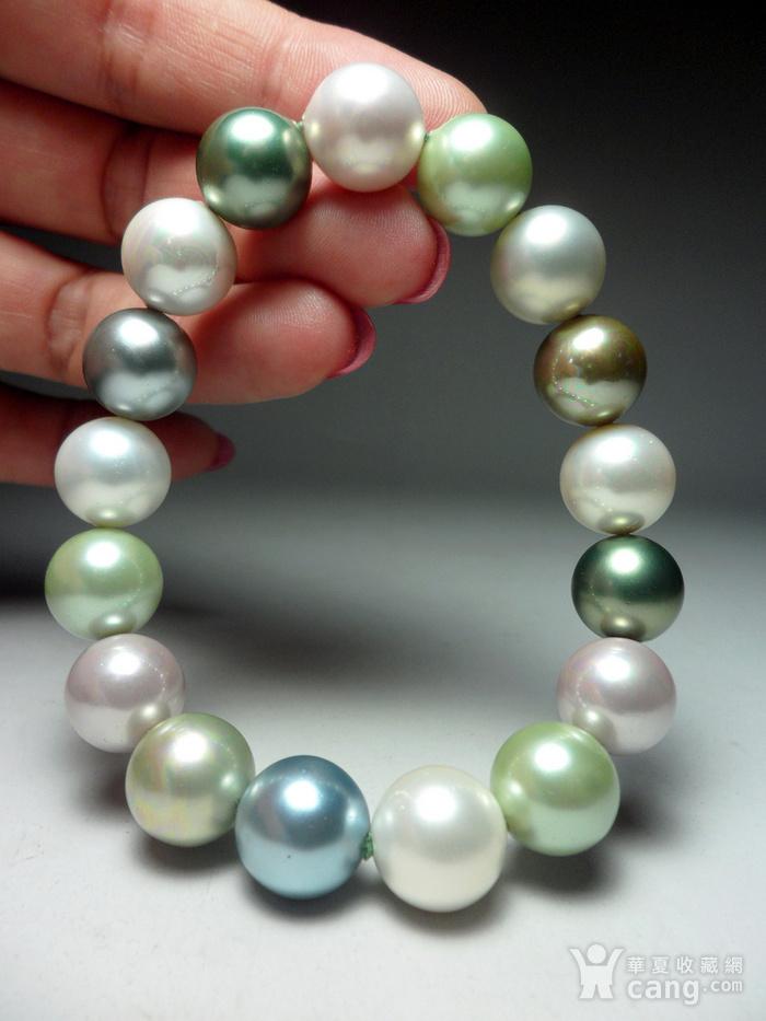多彩贝宝珠!南洋深海珍珠母贝手串!图4