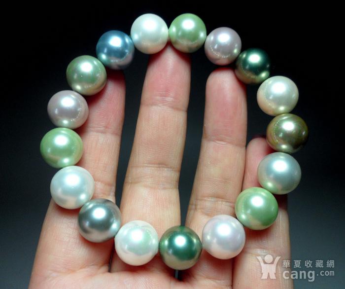 多彩贝宝珠!南洋深海珍珠母贝手串!图6