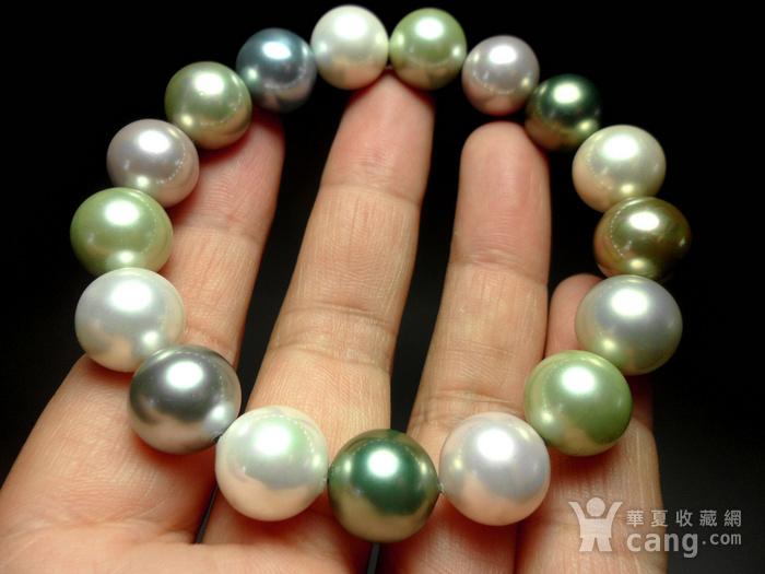 多彩贝宝珠!南洋深海珍珠母贝手串!图2