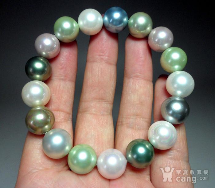多彩贝宝珠!南洋深海珍珠母贝手串!图7
