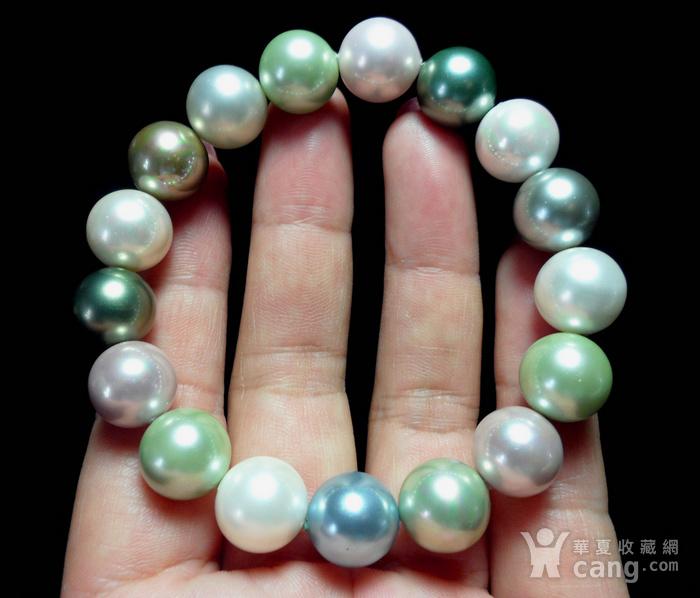 多彩贝宝珠!南洋深海珍珠母贝手串!图5