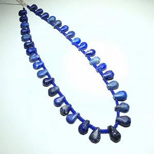 西亚 回流 千年 原矿 3a级青金石 配琉璃项链 手工制作 十分罕见