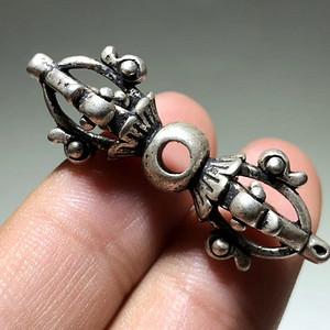藏传 民国 降魔杵 手工雕刻 工艺精美 包浆老厚 降魔杵里面的精品