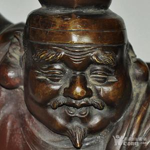 老 日本回流铜制财神塑像!