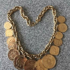 加勒比海金币项链