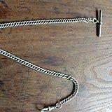 英国古董 纯银 怀表链 HX7