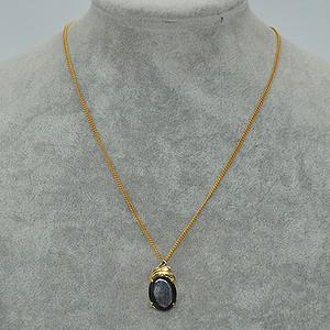 6.9克镶水晶吊坠项链