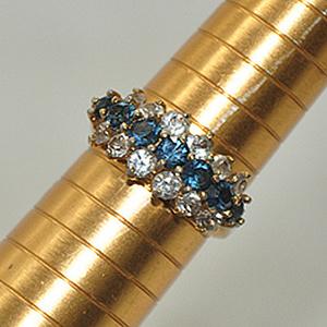 2.5克镶水晶戒指