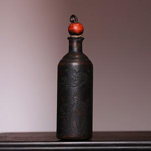 藏海淘 铜制小鼻烟壶 HX126