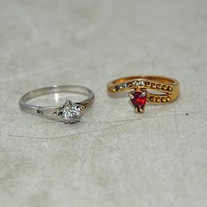 回流戒指两枚3.5克