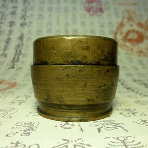 民国老铜墨盒!特色收藏 J !
