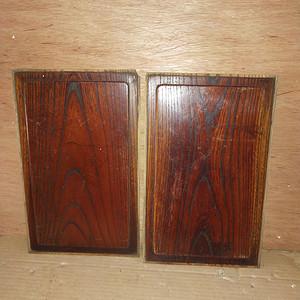 一对非常漂亮的榉木家具板