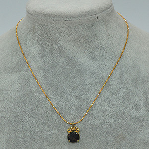 3.8克镶水晶吊坠项链