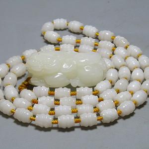 和田白玉貔貅 挂件 带一级白玉项链 油润度极佳