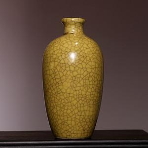 藏海淘 清哥窑黄釉小瓶 HX99