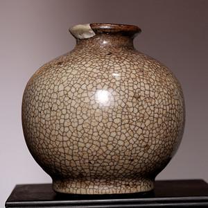 藏海淘 清康熙哥窑瓷罐 HX101