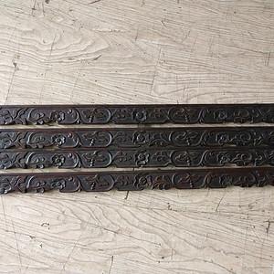 红酸枝雕刻板一套