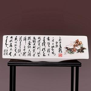 藏海淘 文革三打白骨精带题词瓷板 HX112