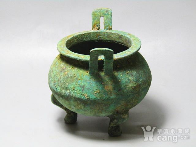 开门到代 双耳三足青铜鼎  铸造精美  包浆老道 品味十足图4