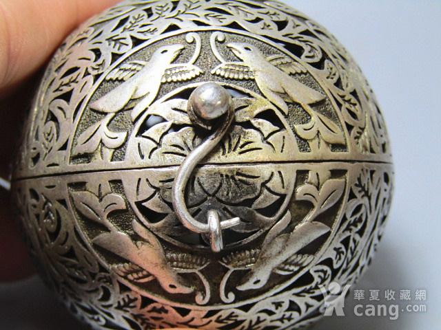 唐代 喜上眉梢 银质 熏香球 包浆醇厚 平衡原理 古人智慧超群图6