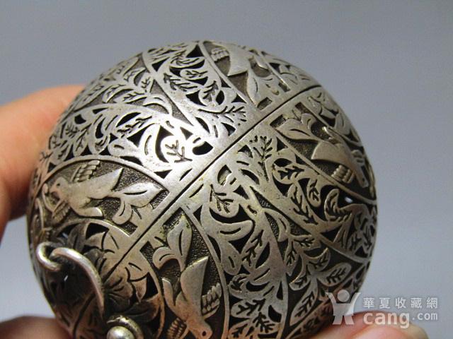 唐代 喜上眉梢 银质 熏香球 包浆醇厚 平衡原理 古人智慧超群图9