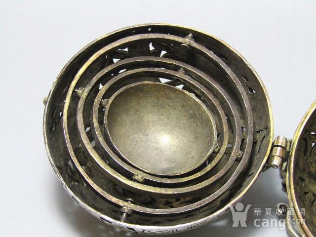 唐代 喜上眉梢 银质 熏香球 包浆醇厚 平衡原理 古人智慧超群图11