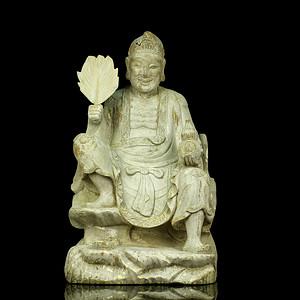 11民国木雕济公像