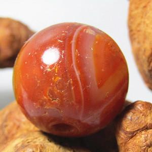 唐 红玛瑙  大珠 包浆醇厚 风化清晰