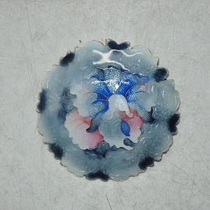 14.7克纯银七宝烧胸针
