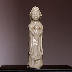 藏海淘 元朝人物小瓷像HX103