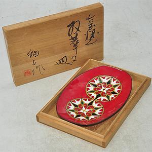 日本茶道白铜七宝烧茶具